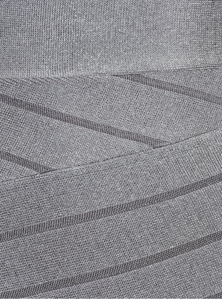 Šedá metalická pouzdrová sukně French Connection