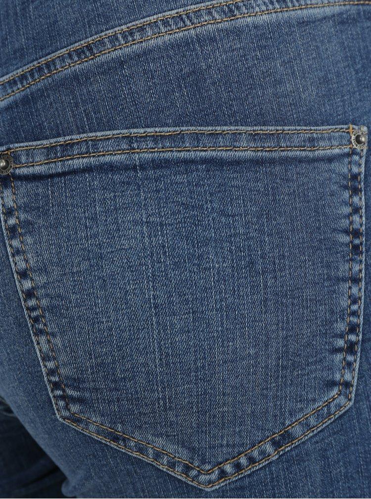 Modré super skinny džíny se šněrováním a vysokým pasem Miss Selfridge