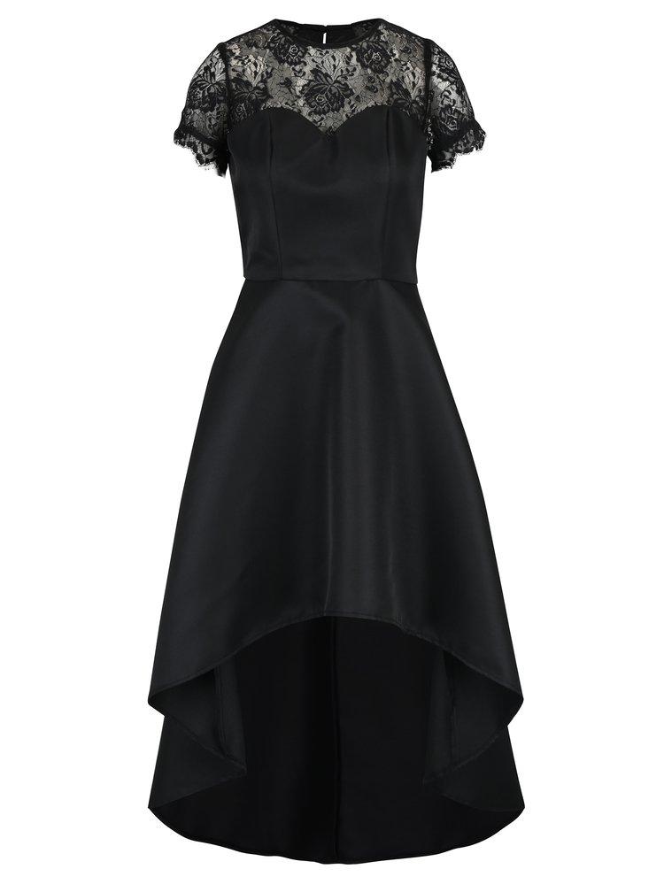 Černé šaty s krajkovými detaily Chi Chi London Georgee