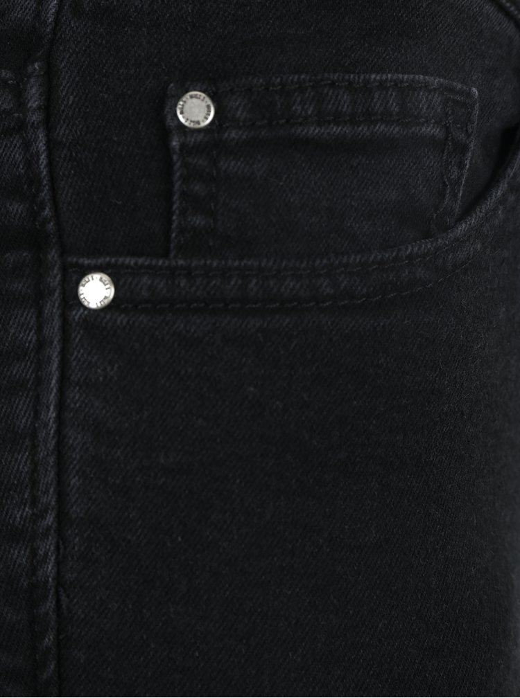 Černé super skinny džíny s vysokým pasem a šněrováním Miss Selfridge