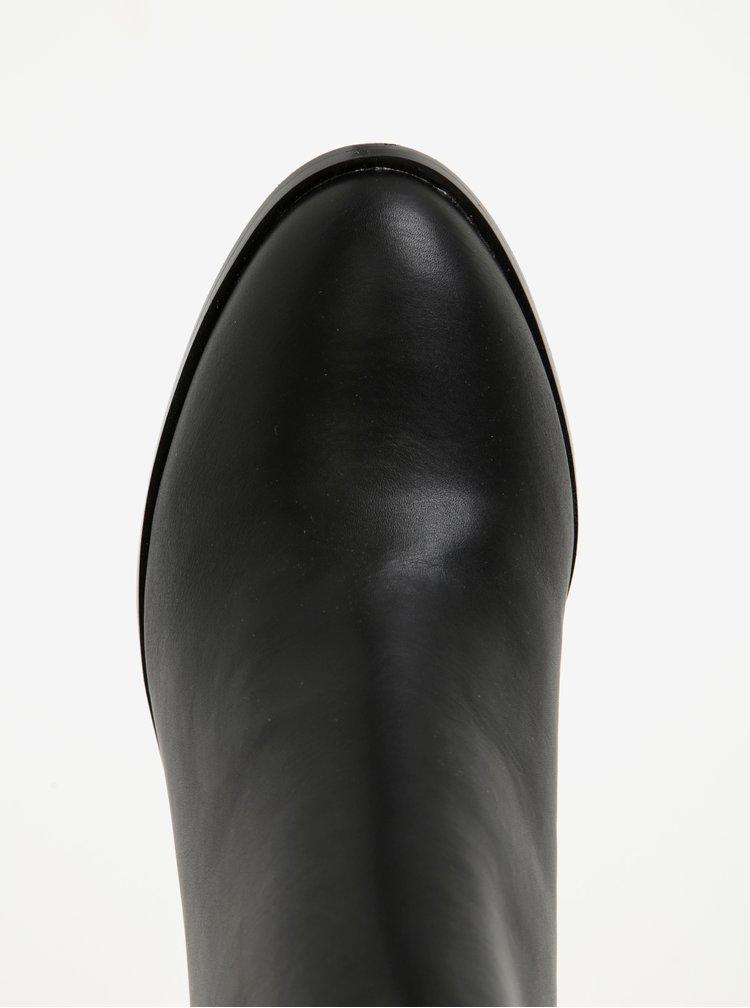 Černé dámské kotníkové boty Pieces