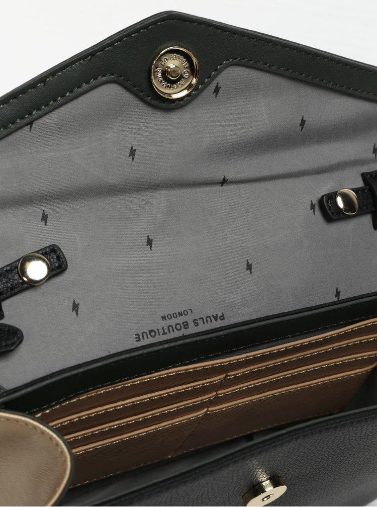 Zeleno-černá crossbody kabelka s metalickými detaily Paul's Boutique Camilla