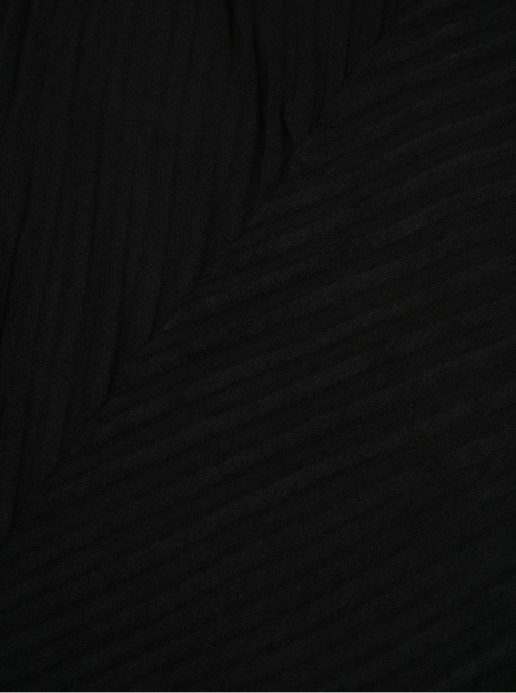 Esarfa neagra cu model plisat  Pieces Creem