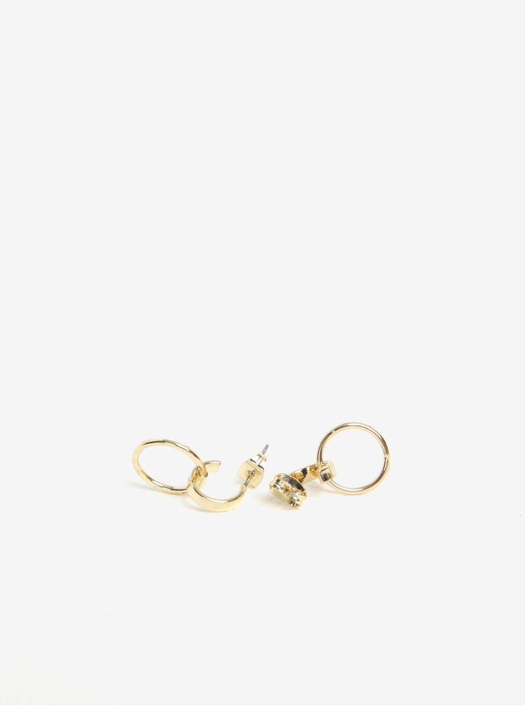 Náušnice ve zlaté barvě Pieces Crino