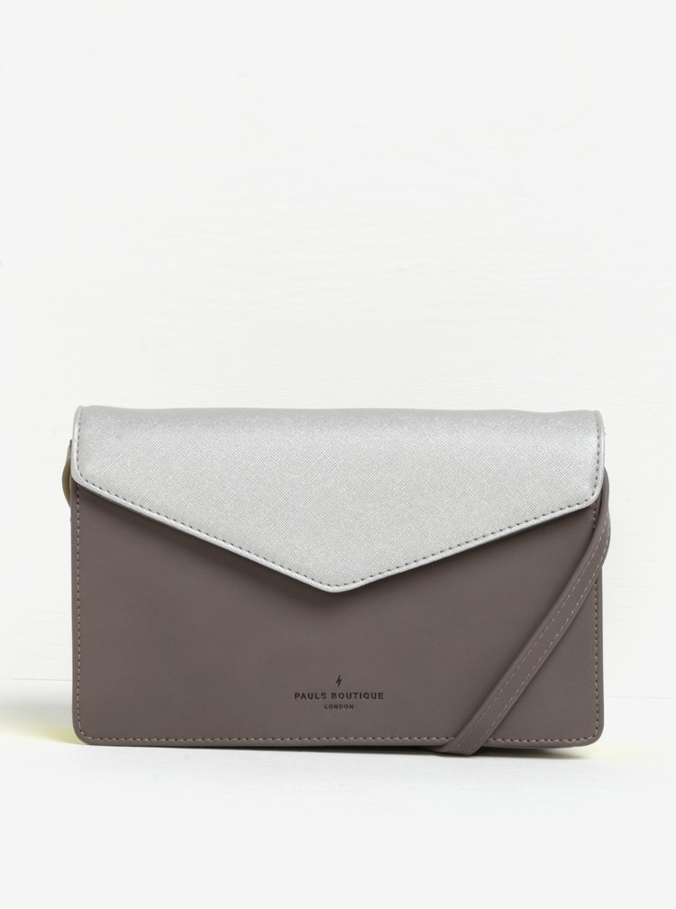 Geanta crossbody bej&argintiu Paul's Boutique Camilla
