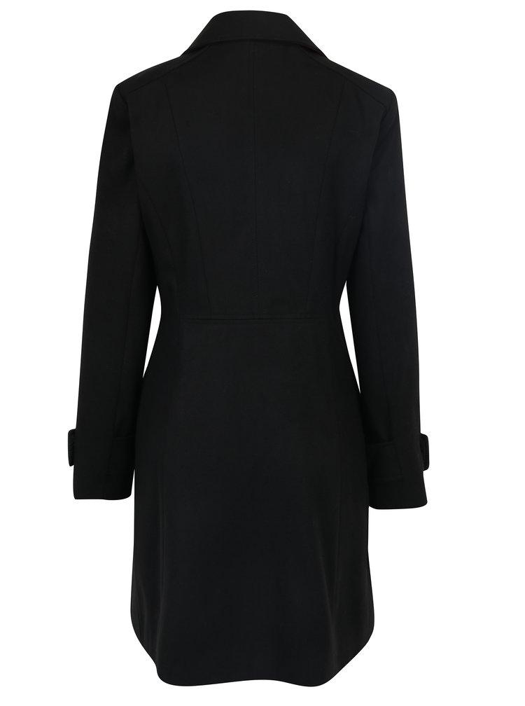 Palton negru cu doua randuri de nasturi Miss Selfridge