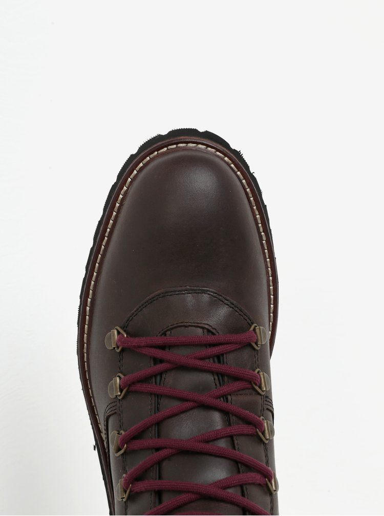 Tmavě hnědé pánské kožené voděodpudivé boty Geox Kieven ABX
