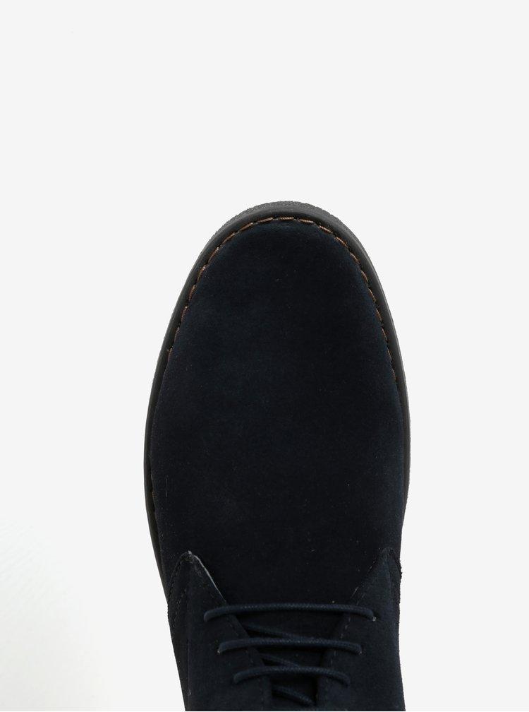 Tmavě modré pánské semišové kotníkové boty Geox Brandled
