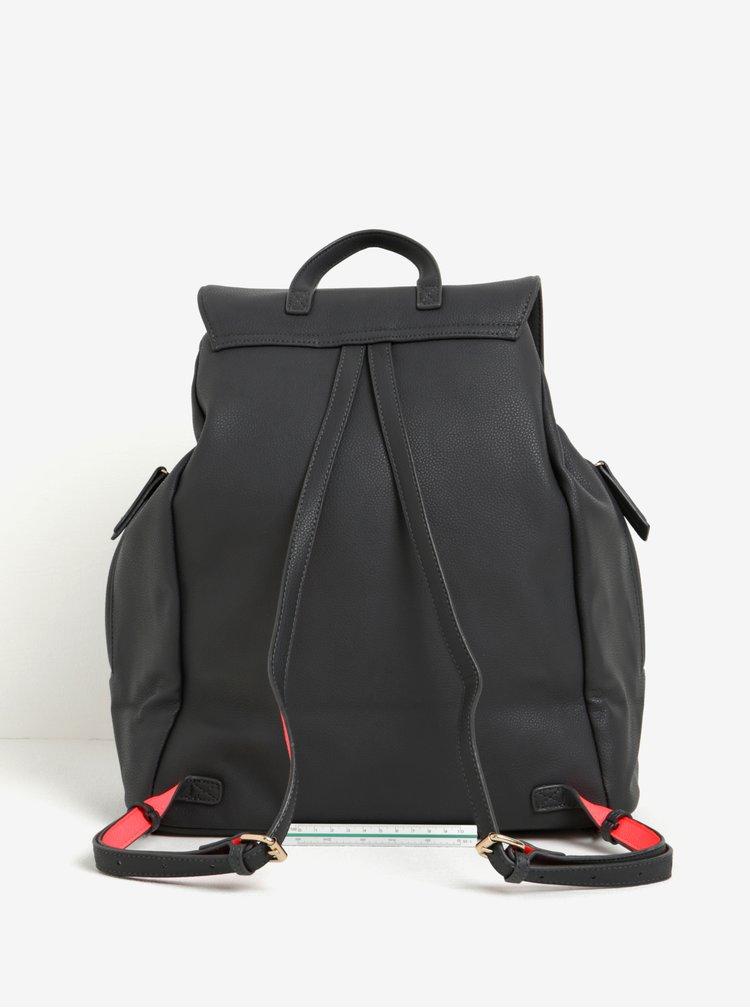 Tmavě šedý velký batoh s jemným vzorem Paul's Boutique Celine