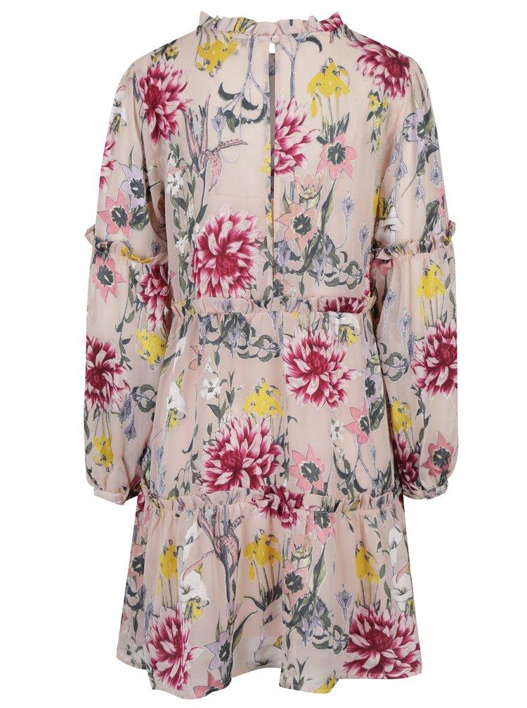 Rochie roz pal cu model floral Miss Selfridge