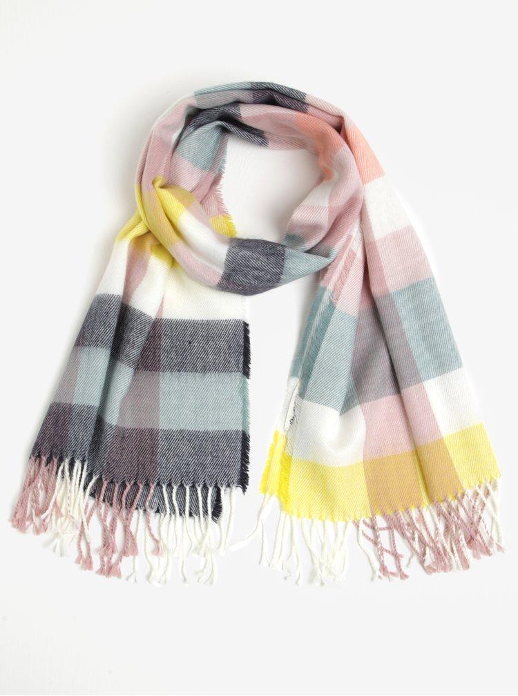 Fular multicolor pentru iarna cu franjuri Miss Selfridge