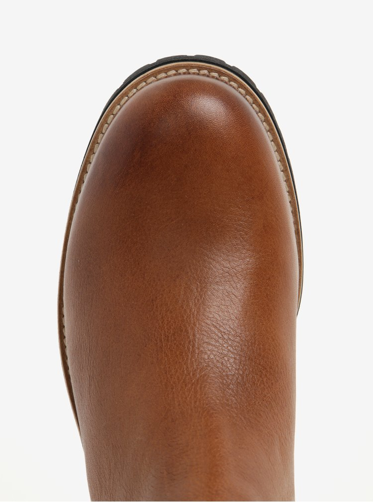 Hnědé pánské kožené chelsea boty Tommy Hilfiger Louis