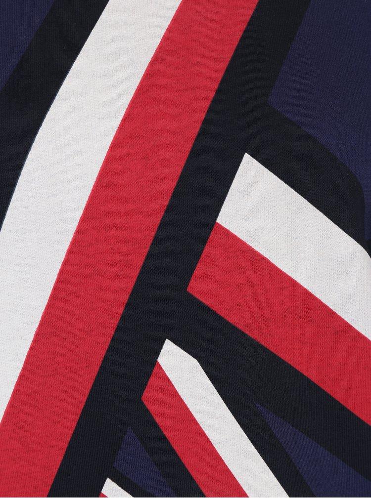 Červeno-modrá dámská vzorovaná mikina Tommy Hilfiger Global