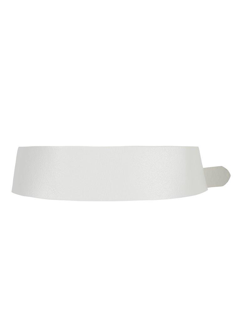 Krémový koženkový pásek Miss Selfridge