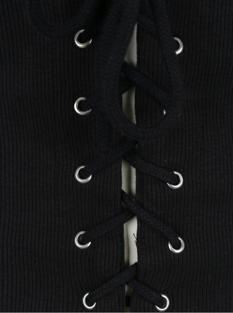 Corset negru tricotat Miss Selfridge