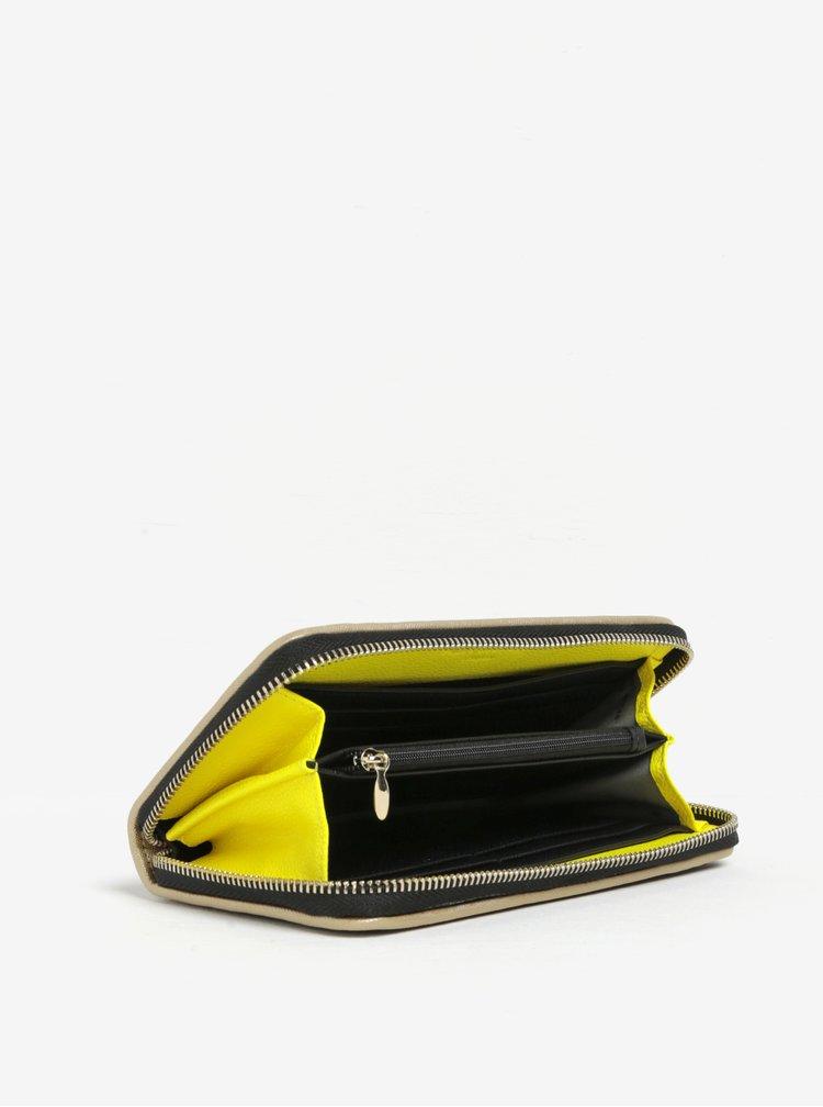 Portofel negru cu detalii galben neon Paul's Boutique Lizzie