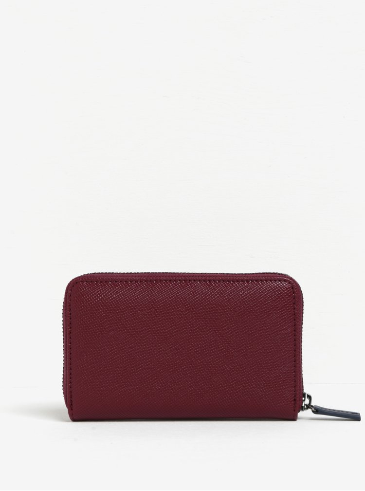 Vínová peněženka se zipem a jemným vzorem Paul's Boutique Celia