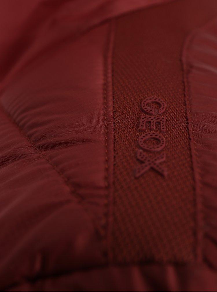 Cihlová dámská prošívaná bunda Geox