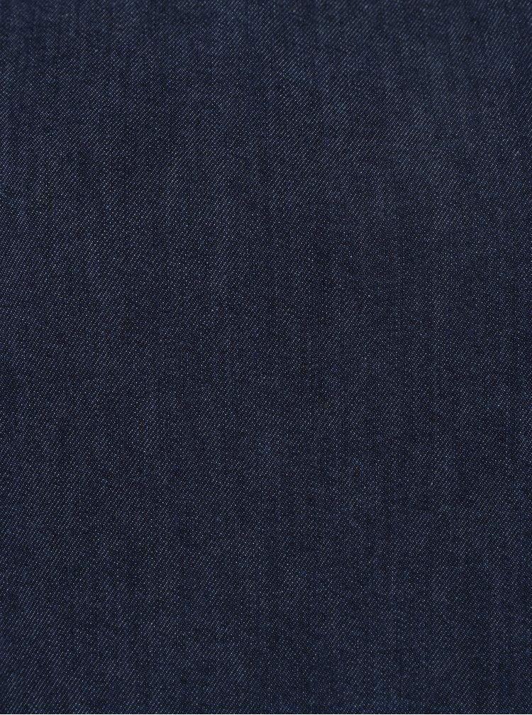 Rochie albastra din denim cu maneci clopot Miss Selfridge