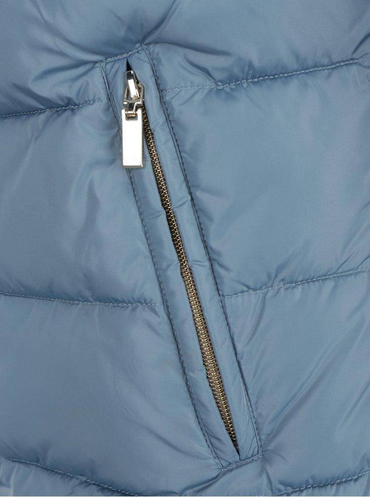 Světle modrá dámská prošívaná bunda Geox