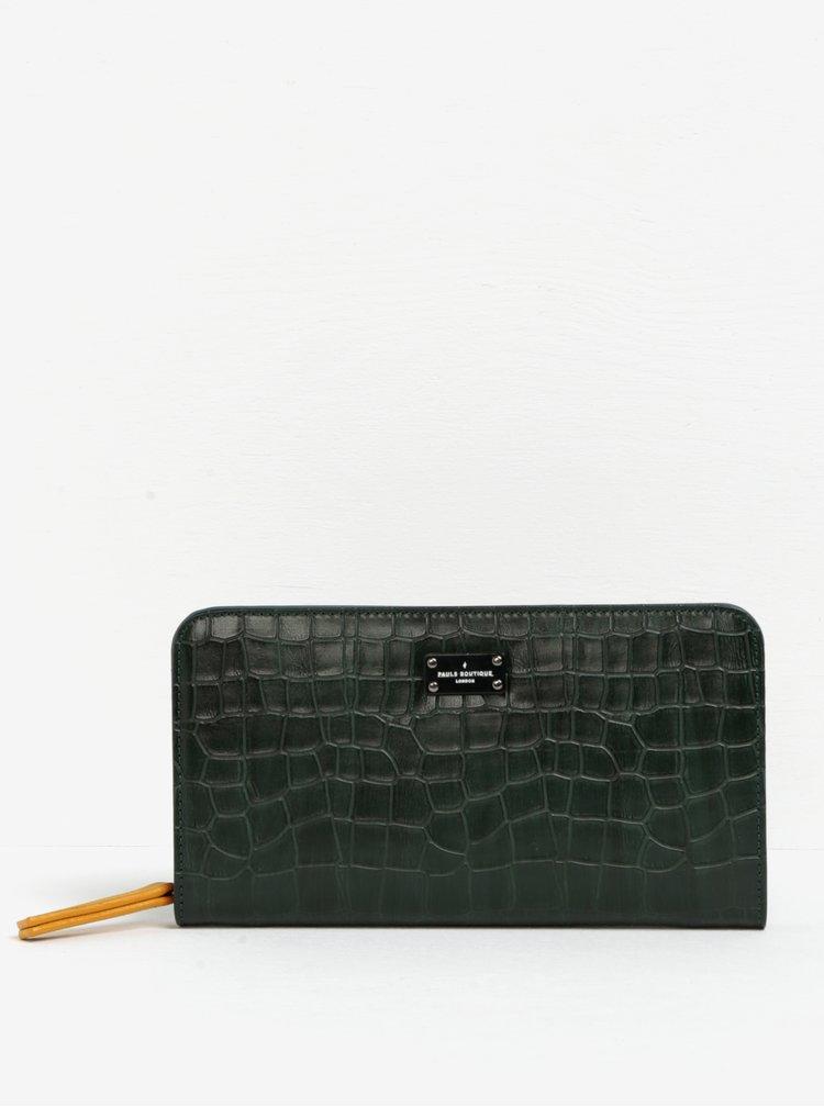 Tmavě zelená peněženka s hadím vzorem Paul's Boutique Carla