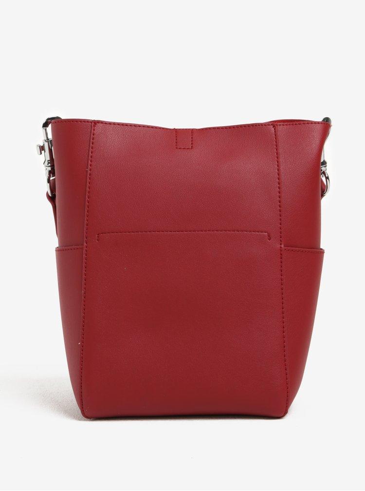Červená kabelka s crossbody kabelkou 2v1 Nalí