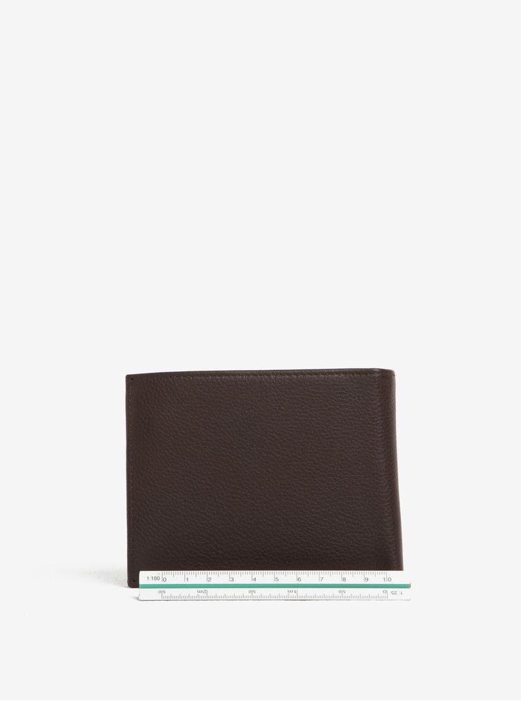 Tmavě hnědá pánská kožená peněženka Tommy Hilfiger Core