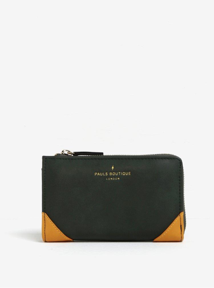 Tmavě zelená peněženka s barevnými detaily Paul's Boutique Catlin