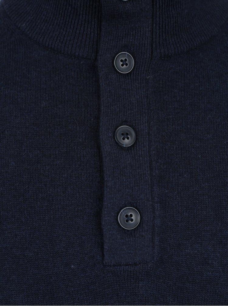 Tmavě modrý pánský svetr s příměsí kašmíru Tommy Hilfiger Pima