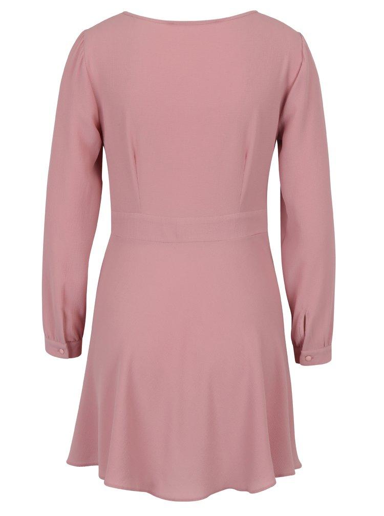 Starorůžové šaty s volány Miss Selfridge Petites