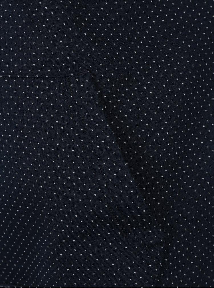 Tmavě modrá pánská vzorovaná mikina Tommy Hilfiger Aiden