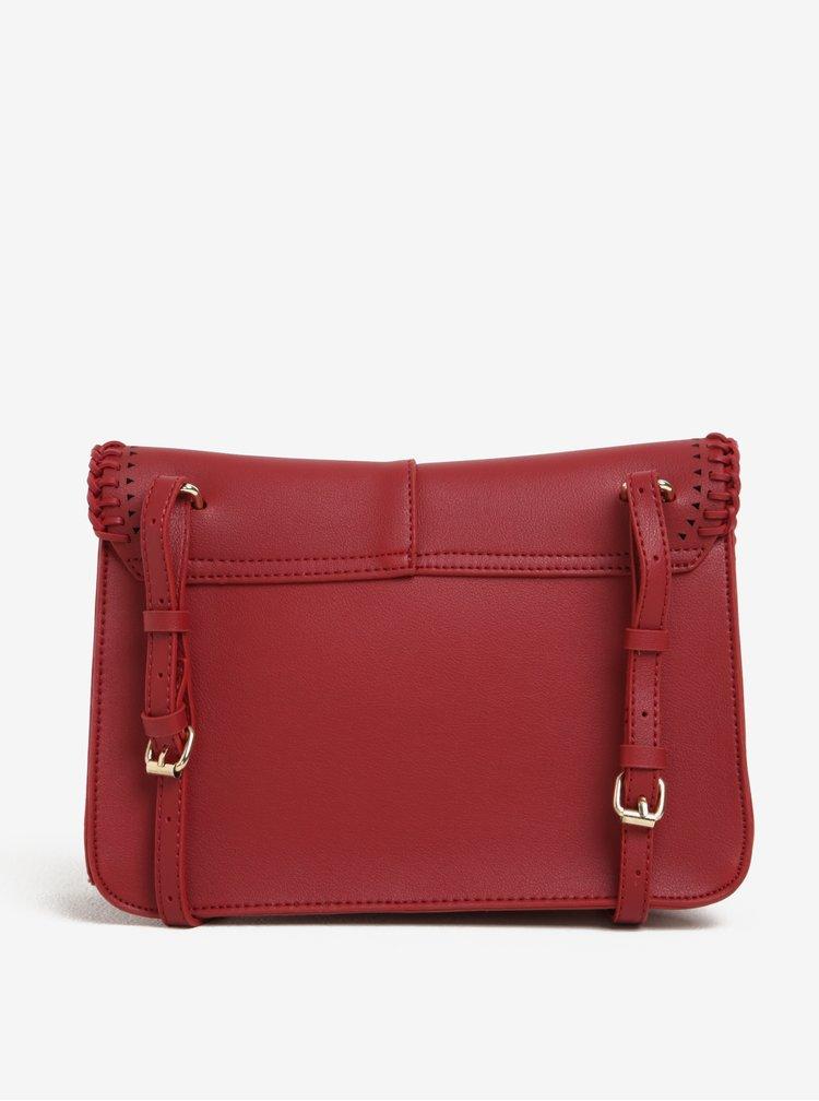 Červená crossbody kabelka s detaily ve zlaté barvě Nalí