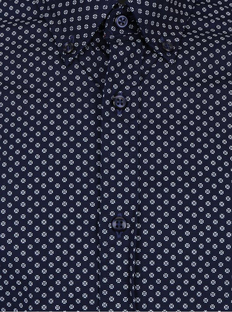 Tmavě modrá pánská vzorovaná slim fit košile Tommy Hilfiger Ranger