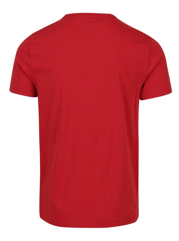 Červené pánské tričko Tommy Hilfiger Flag