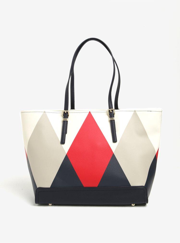 Červeno-modrý shopper Tommy Hilfiger Honey