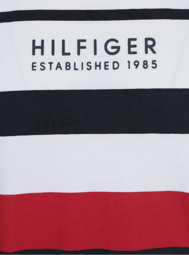 Bílé pánské triko s potiskem Tommy Hilfiger Norman