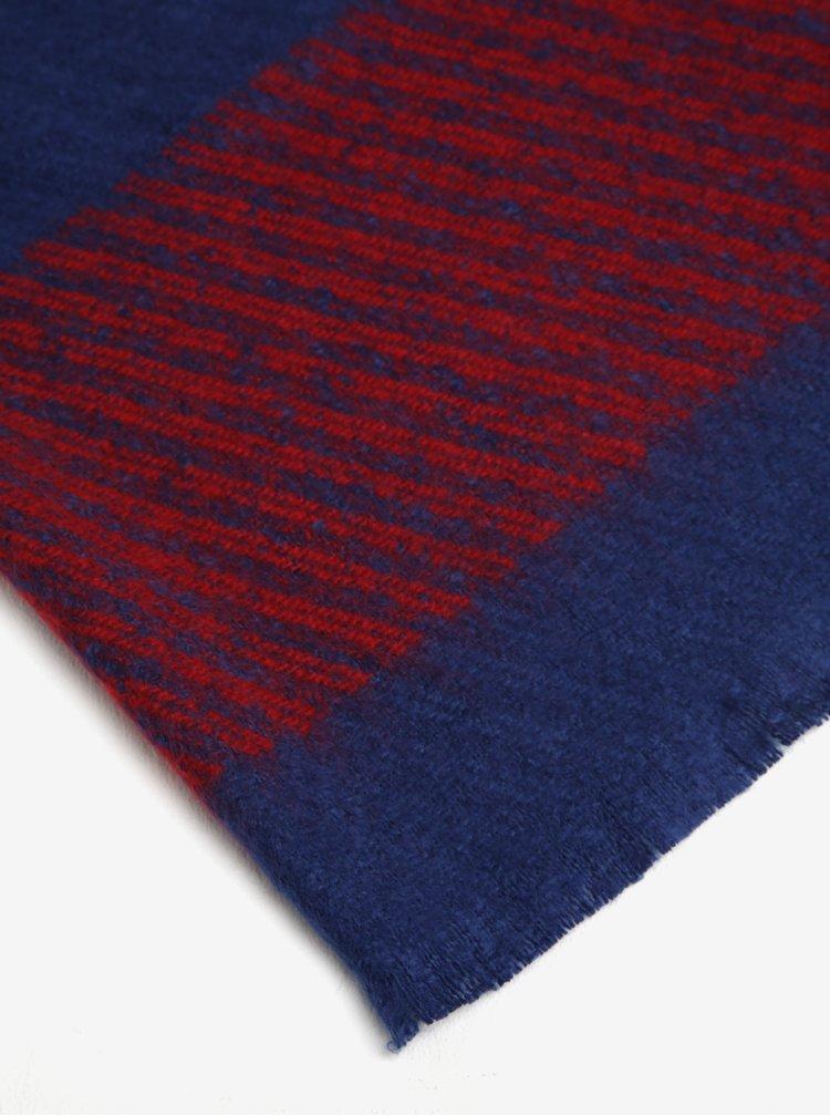 Modrá dámská vzorovaná šála Tommy Hilfiger Blanket