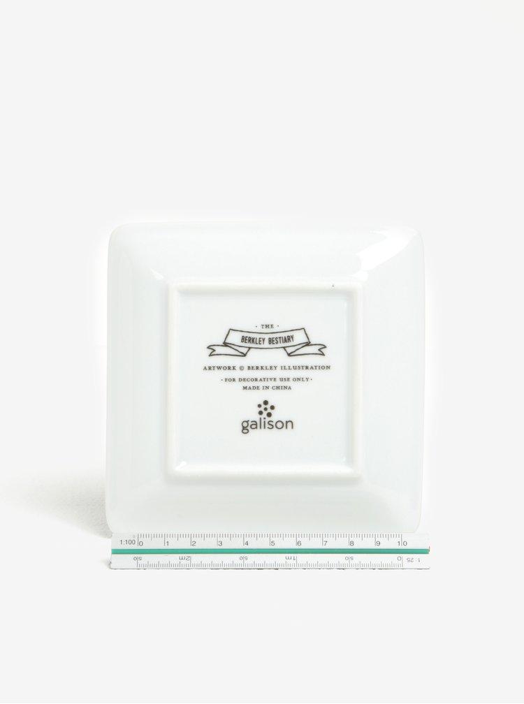 Mentolový porcelánový talířek na šperky Galison