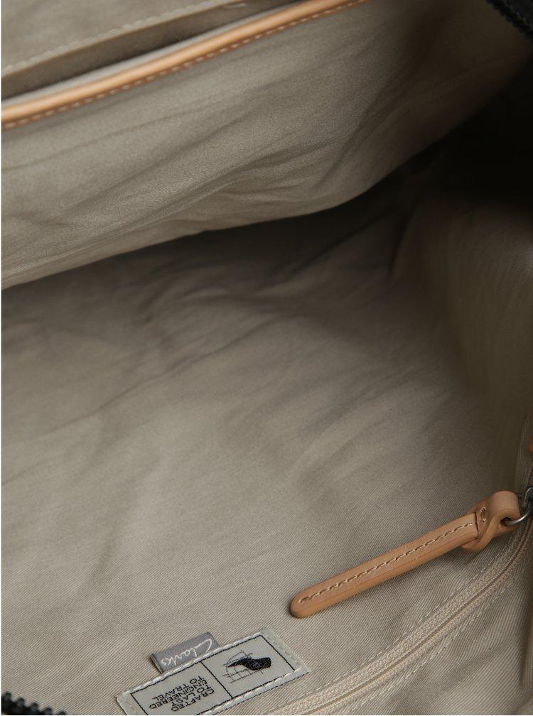 Geantă de voiaj alb&negru cu detalii din piele  Clarks The Moorgate