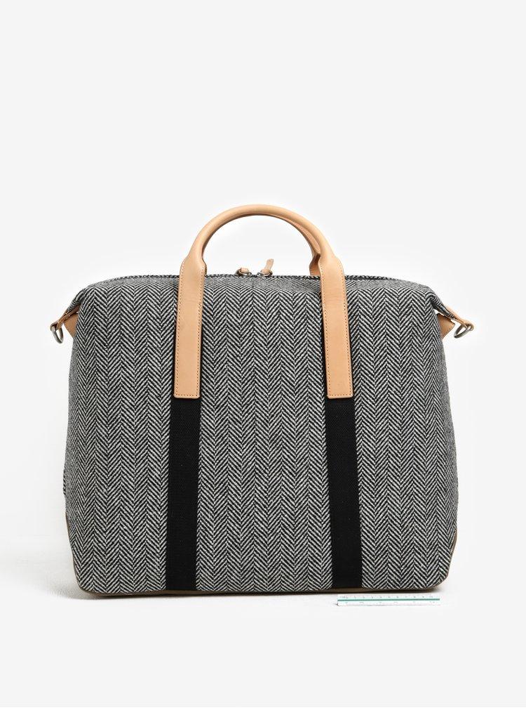 Černo-bílá cestovní taška Clarks The Moorgate