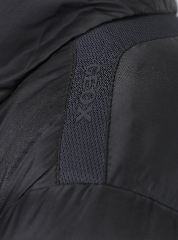 Šedý dámský prošívaný kabát Geox