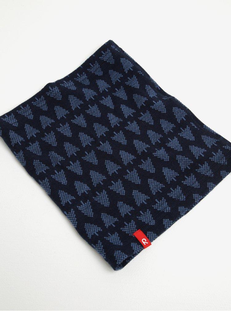 Tmavě modrý vlněný vzorovaný klučičí nákrčník Reima Ellivaara