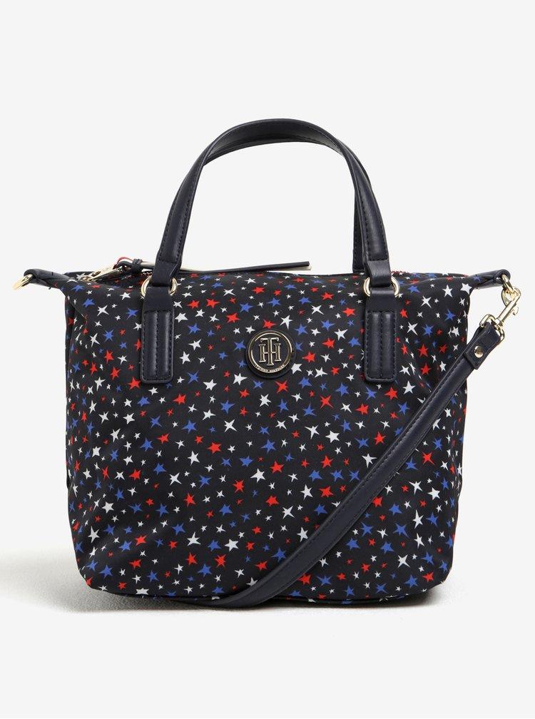 Tmavě modrá vzorovaná kabelka Tommy Hilfiger Poppy