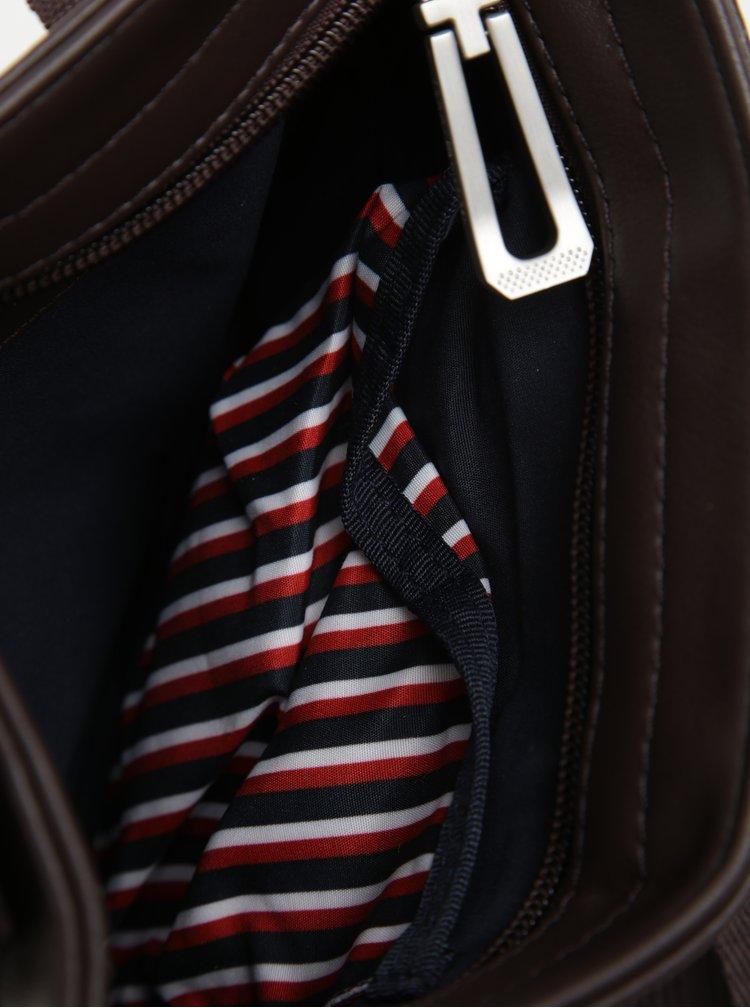 Tmavě hnědá pánská crossbody taška Tommy Hilfiger The City