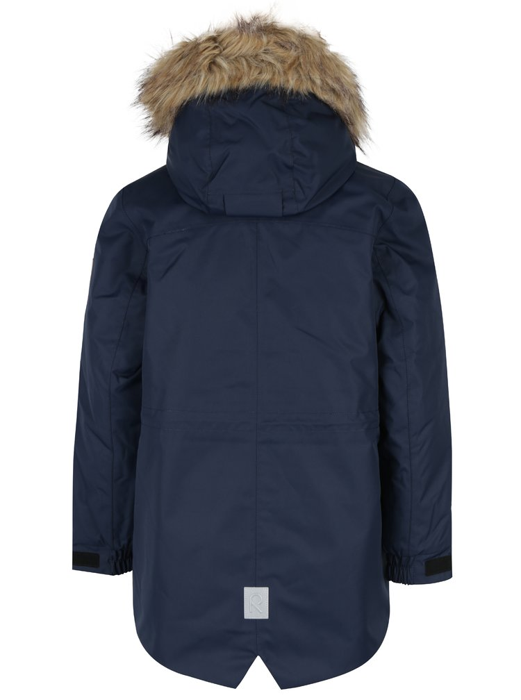 Tmavě modrá dětská funkční voděodolná bunda s kapucí Reima Naapuri