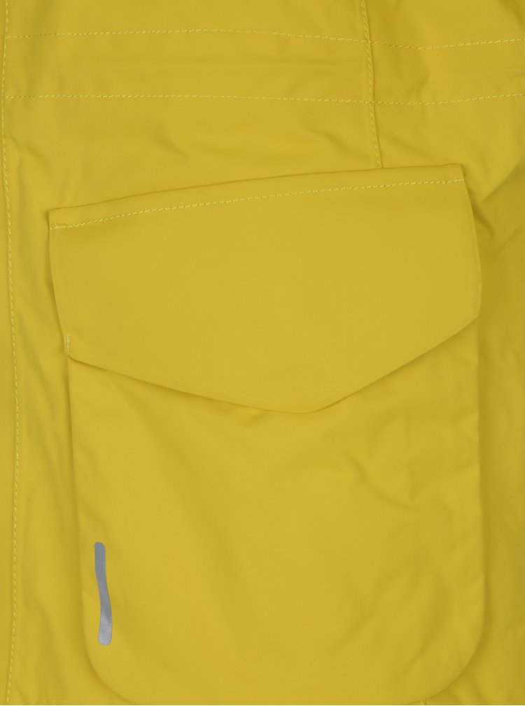 Žlutá dětská funkční voděodolná bunda s kapucí Reima Naapuri