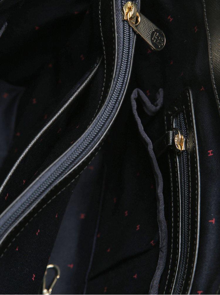 Černý shopper s odnímatelným popruhem Tommy Hilfiger Honey