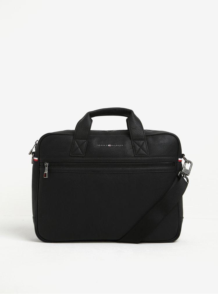 Černá pánská taška na notebook Tommy Hilfiger Essential