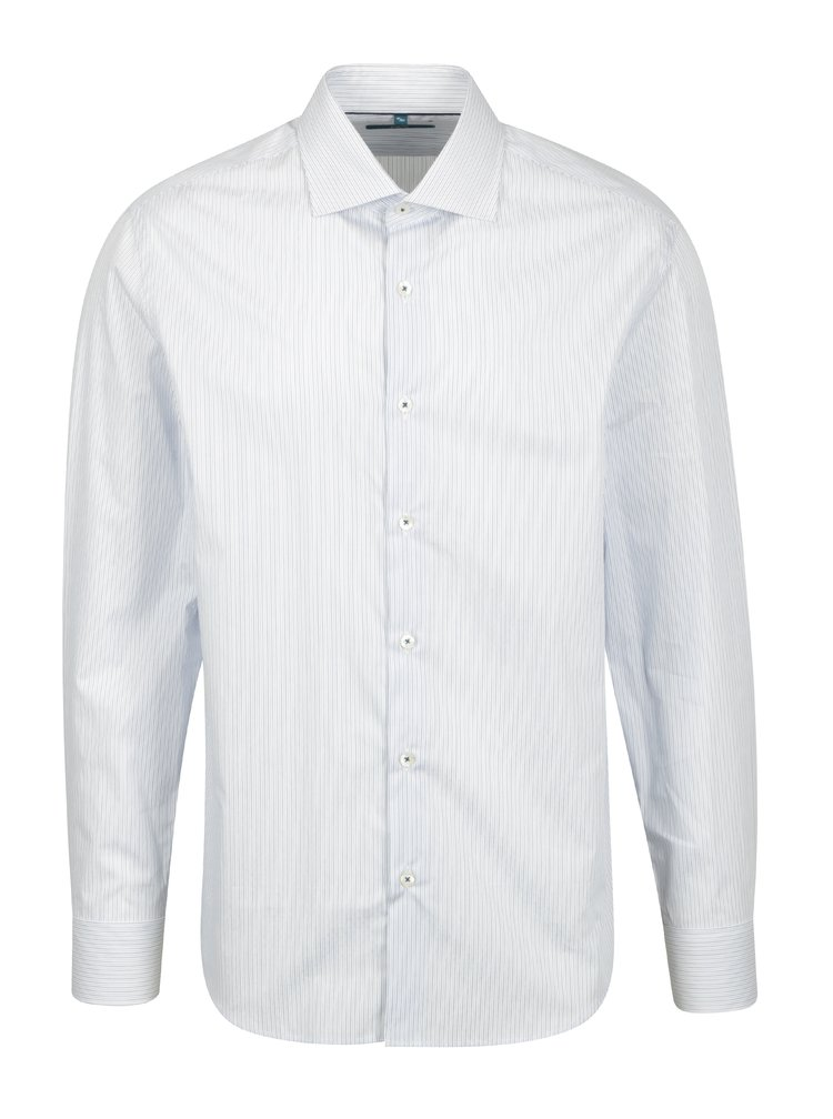 Modrá pruhovaná formální slim fit košile Braiconf Iacob