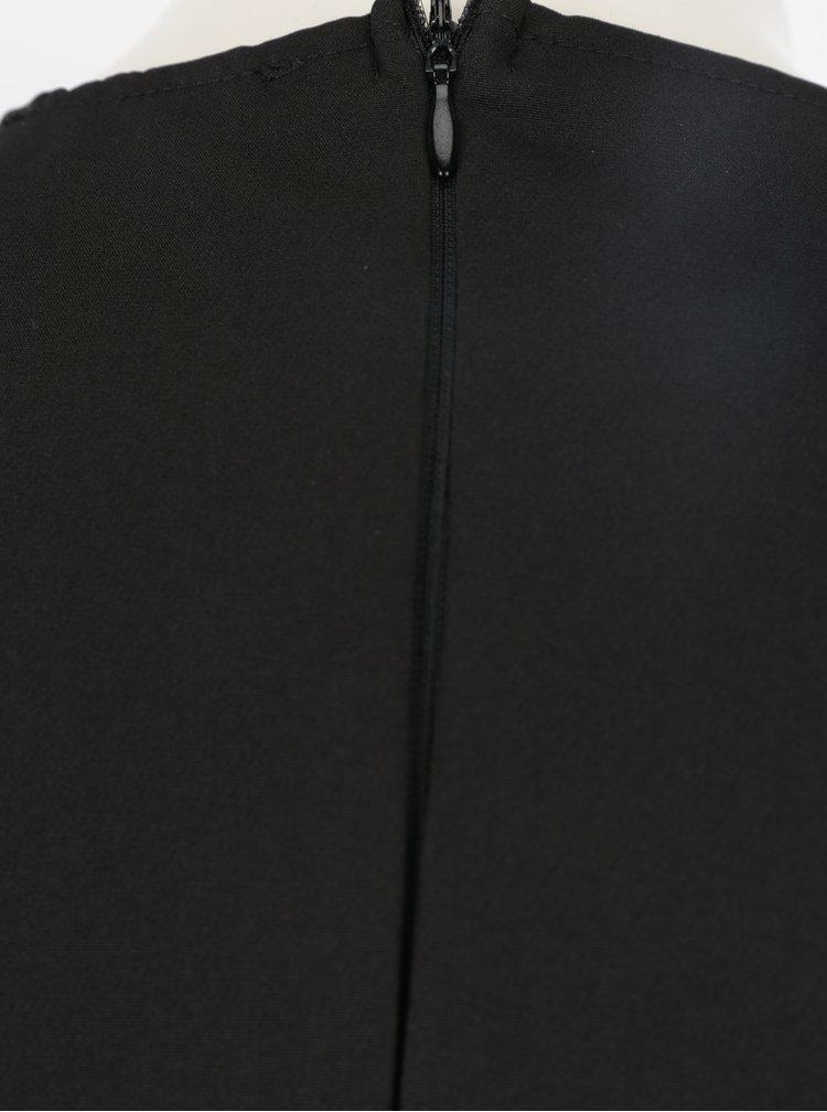 Černé pouzdrové šaty s flitrovanou sukní AX Paris